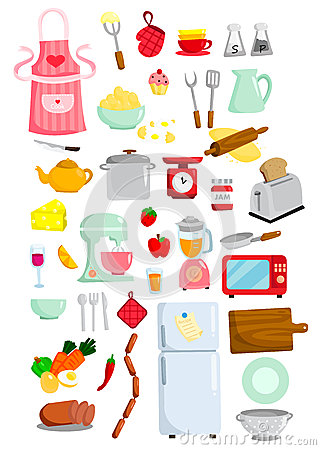 Free Kithen Vector Set Royalty Free Stock Images - 32834179