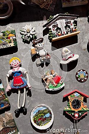 Kitschy souvenirs in mondsee, upper austria