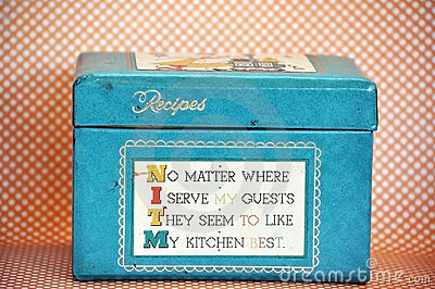 Kitschy Vintage Recipe Box