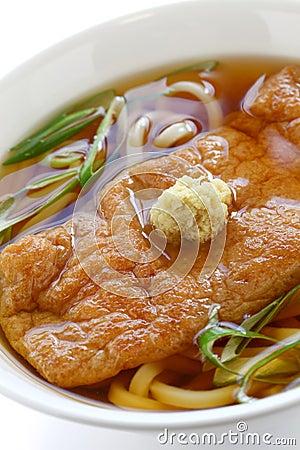 Kitsune udon noodles, japanese cuisine