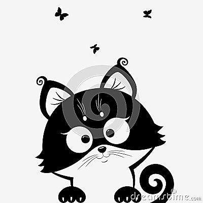 Free Kitten Black Royalty Free Stock Photography - 29871347
