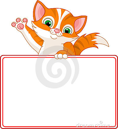 Kitten Place Card