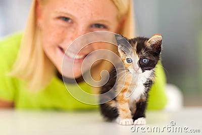 Kitten teen girl