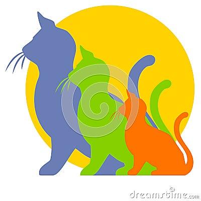 Kitten To Cat Growth Clipart