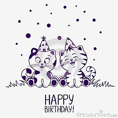 Kittens Birthday Stock Image Image 36642101
