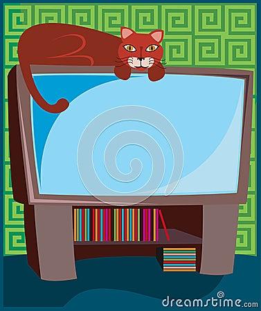 Kitty on TV