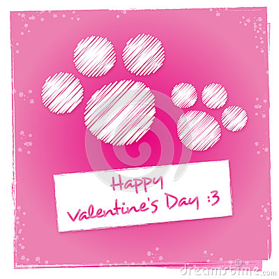 Kitty Valentines Day Greeting Card