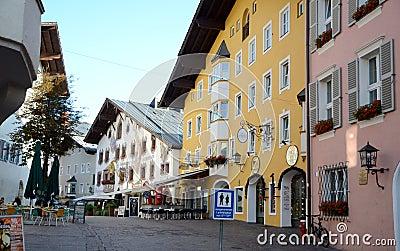Kitzbuhel town Editorial Stock Image