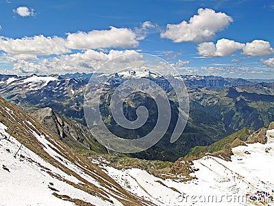 Kitzsteinhorn glacier in summer