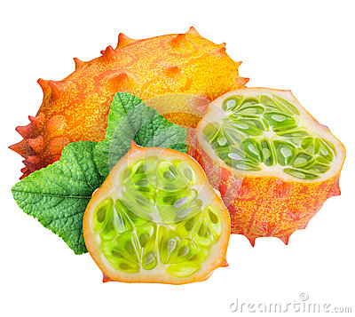Free Kiwano, Horned Melon Isolated On White Background Royalty Free Stock Photos - 88339558