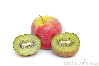 Kiwi and apple fruits