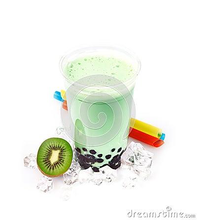 Free Kiwi Boba Bubble Tea Royalty Free Stock Photo - 25401555