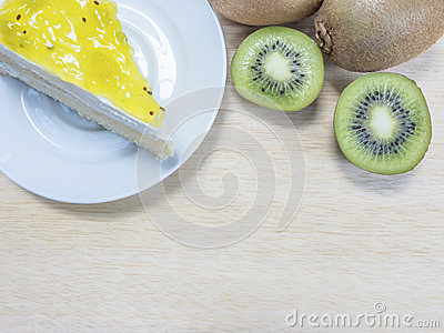 Kiwi cake and fruit