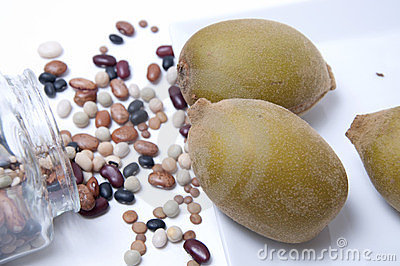 Kiwi and cooking beans