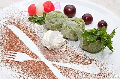 Kiwi Fruit Ice Cream
