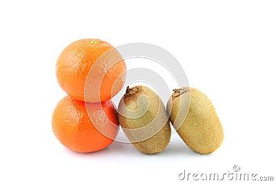 Kiwi fruit and mandarin orange