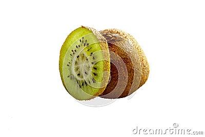 Kiwi Fruit slice isolated