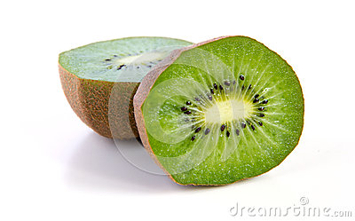 Kiwi fruit sliced segments