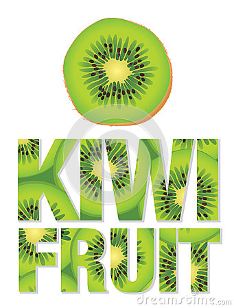 Kiwi Fruit text made from kiwi fruits