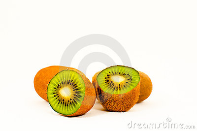 Kiwi Fruits in White Background
