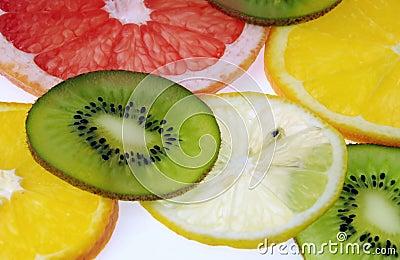 Kiwi,grapefruit,orange,lemon