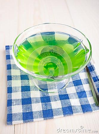 Free Kiwi Jelly With Mint Royalty Free Stock Image - 34021756