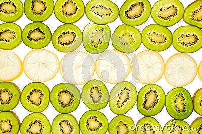 Kiwi and lemon background