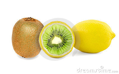 Kiwi lemon fruits