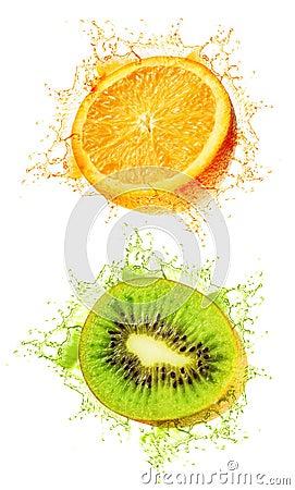 Kiwi and orange wet