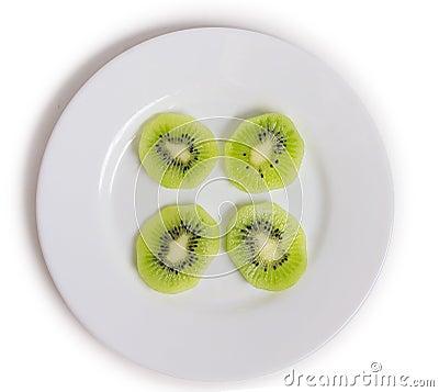 Kiwi on a plate