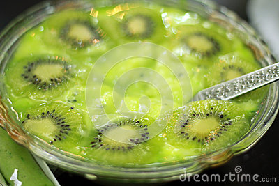 Kiwi-Pudding