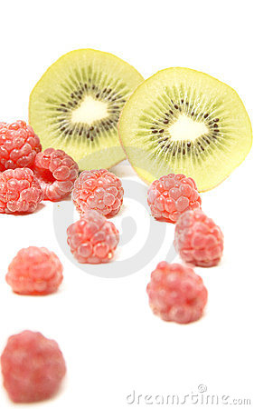 Kiwi and raspberry