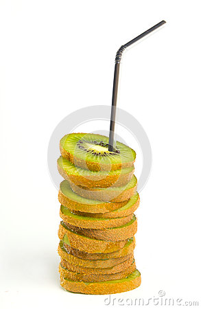 Kiwi slices as a coctail