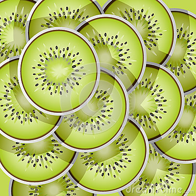Kiwi slices pattern