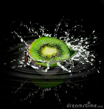 Kiwi Splash Stock Photography - Image: 18058632