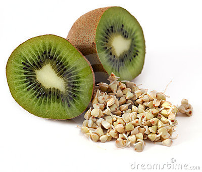 Kiwi and sprouts and a very useful buckwheat