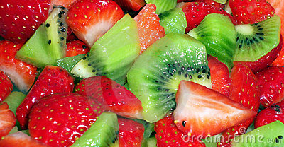 Kiwi and strawberry salad