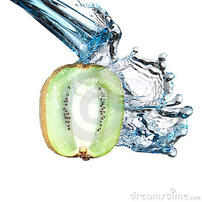 Kiwi water splash