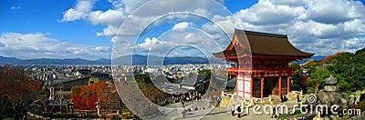 Kiyomizu-dera Temple panoramic