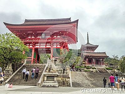 Kiyomizudera Temple gate, Kyoto Editorial Photography