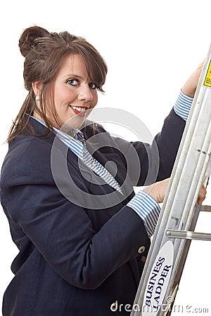 Klättra den företags isolerade stegen