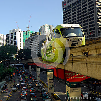Free KL Monorail Royalty Free Stock Image - 28070016