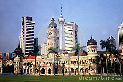 KL Tower and Sultan Abdul Samad Building Editorial Stock Image