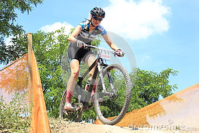 Klara Krizova - MTB cross country Editorial Stock Image
