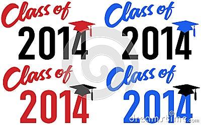 Klasse van de datum van de de schoolgraduatie van 2014