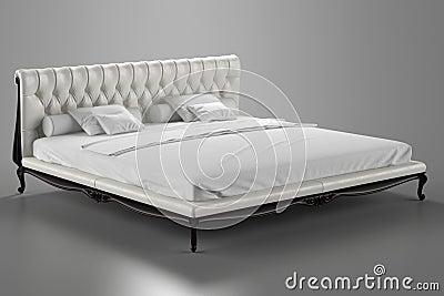 Klassiek bed royalty vrije stock foto beeld 26250545 - Klassiek bed ...