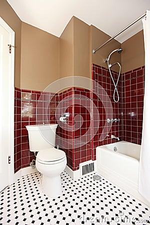 Klassieke antieke bruine en rode badkamers royalty vrije stock fotografie afbeelding 25082807 - Bruine en beige badkamer ...