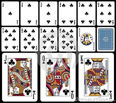 Klassieke Speelkaarten - Clubs