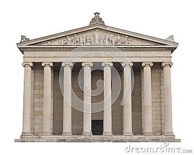 Klassische griechische architektur lizenzfreie stockbilder for Klassische architektur