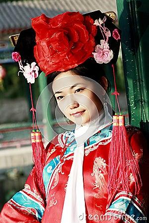 Klassische Schönheit in China.